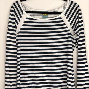 C&C California, Navy striped, boat neck shirt